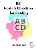 Special Education IEP Goals and Objectives for Reading