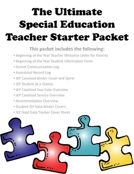 The Ultimate Special Education Teacher Starter Packet
