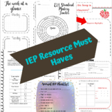 Special Education: IEP Resource Must Haves (Can be used in