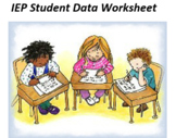 Special Education IEP – Student Data Input and Tracking fo