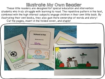Special Education Beginner Illustrate My Own Reader Bundle #1