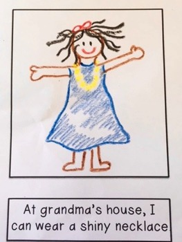 "Special Education Illustrate My Own Reader ""Grandma's House"""