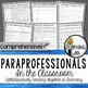 Special Education Inclusion BUNDLE - Co-Teaching and Paraprofessionals