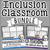 #SpedSummerHalfOff - Inclusion BUNDLE - Co-Teaching and Paraprofessionals