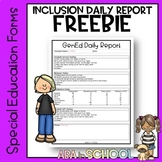 Special Education Inclusion Daily Google Form