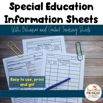 Special Education Information Sheets