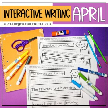 Interactive Writing Notebook for Special Education: April