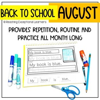 Interactive Writing Notebook for Special Education: August