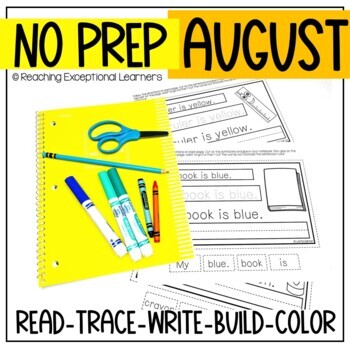 August Interactive Writing Notebook