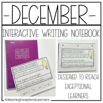 Interactive Writing Notebook for Special Education: December