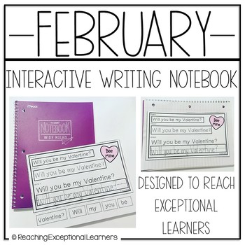 Interactive Writing Notebook for Special Education: February