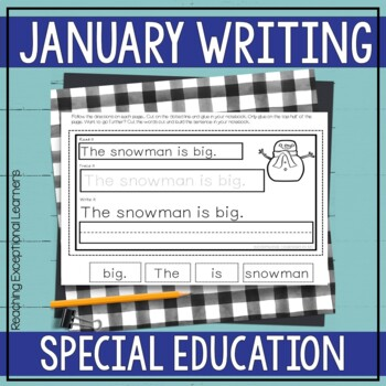 Interactive Writing Notebook for Special Education: January
