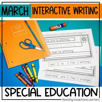 Interactive Writing Notebook for Special Education: March