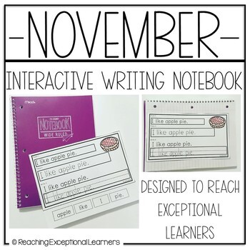 Interactive Writing Notebook for Special Education: November