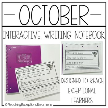 Interactive Writing Notebook for Special Education: October