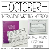 October Interactive Writing Notebook