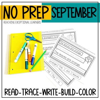 Interactive Writing Notebook for Special Education: September