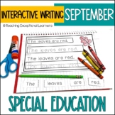 September Interactive Writing Notebook