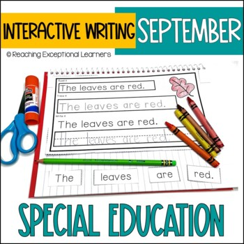 September Interactive Journals for Special Education