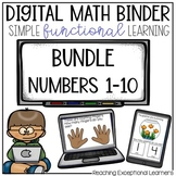 Special Education Interactive Math Notebook Bundle Numbers 1-10