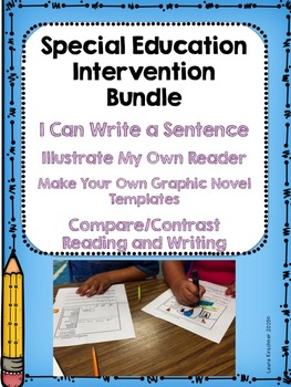 Special Education Intervention Reading and Writing Bundle