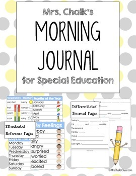 Special Education Journal - Morning Routine Activity