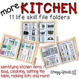 Special Education Kitchen / Cooking Life Skill File Folders - Set 2