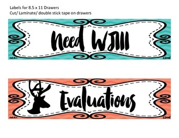 Special Education Labels for Drawers or Filing