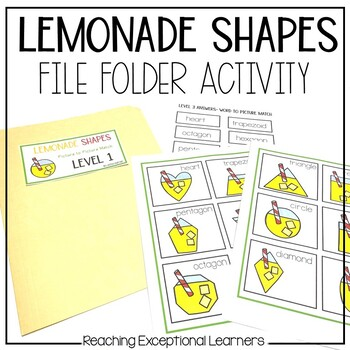 Lemonade Shapes File Folder Activities