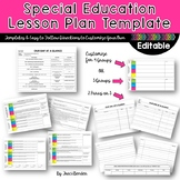 Special Education Lesson Plan Template