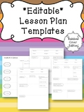 Special Education Lesson Plan Template EDITABLE- Rainbow