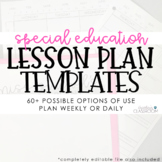 Special Education Lesson Plan Templates (EDITABLE)