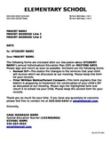 Special Education Letter Templates