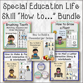 """Special Education Life Skill """"How to..."""" Bundle"""