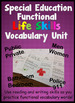 Special Education Life Skills Functional Vocabulary for work and home