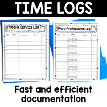 Special Education Log In and Time Sheets