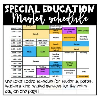 Special Education Master Schedule