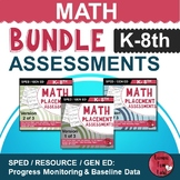 Special Education Math Assessments BUNDLE (K-8)