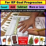 Special Education Math Center Activity for IEP Goal Progre