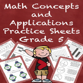 Special Education Math Concepts and Applications Practice Sheets Grade 5