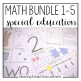 Math Bundle 1-5 for Special Education