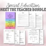 Special Education Meet the Teacher BUNDLE