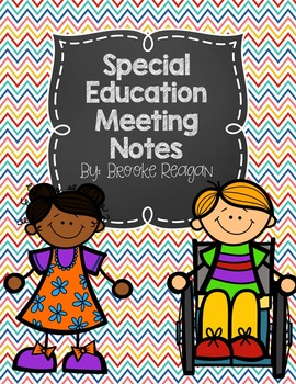 Special Education Meeting Notes
