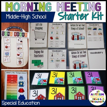 Special Education Middle & High School Morning Meeting Starter Kit (autism)