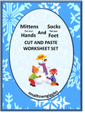 Winter Math, Cut and Paste, Winter Math Centers, Kindergarten Special Education