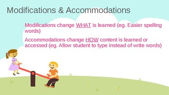 Special Education Modifications