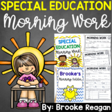 Special Education Morning Work