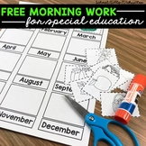 Special Education Daily/Morning Work-Freebie!