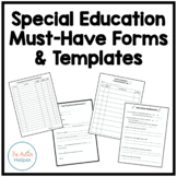 Special Education Must-Have Forms and Templates