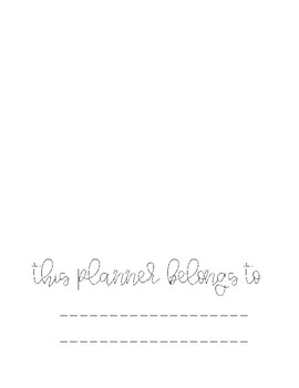 Special Education Organization/Planning Pages